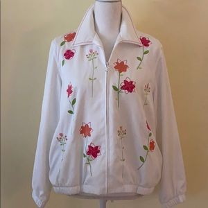 Alford Dunner cream floral zippered jacket